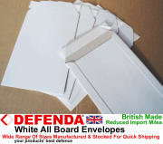 View All Board White Envelopes Larger Images